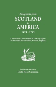 Cover of: Emigrants from Scotland to America, 1774-1775