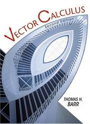 Cover of: Vector calculus