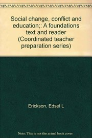 Cover of: Social change, conflict and education