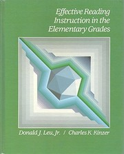 Cover of: Effective reading instruction in the elementary grades | Donald J. Leu