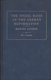 The social basis of the German Reformation