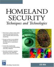Cover of: Homeland Security Techniques & Technologies (Networking Series)