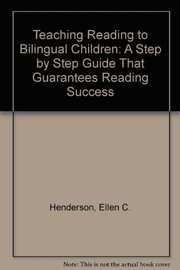 Cover of: Teaching reading to bilingual children | Ellen C. Henderson