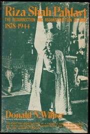 Cover of: Riza Shah Pahlavi | Donald Newton Wilber
