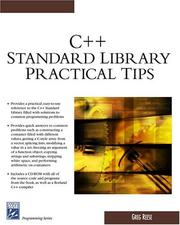 Cover of: C++ standard library practical tips | Greg Reese