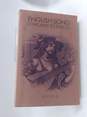 Cover of: English song, Dowland to Purcell
