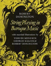 Cover of: String playing in Baroque music | Robert Donington