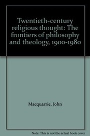 Cover of: Twentieth-century religious thought | John Macquarrie