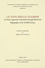 Cover of: Le vainsiecle guerpir | Phyllis Johnson