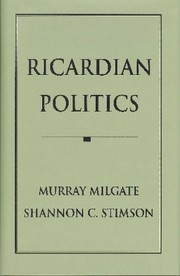 Cover of: Ricardian politics | Murray Milgate