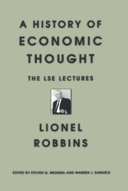Cover of: A History of Economic Thought