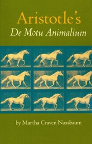 Cover of: De motu animalium: text with translation, commentary, and interpretive essays