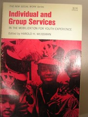 Cover of: Individual and group services in the Mobilization for Youth experience. |