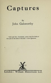 Cover of: Captures | John Galsworthy