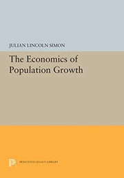 Cover of: The economics of population growth