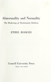 Cover of: Abnormality and normality | Ethel Roskies
