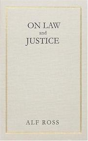 Cover of: On Law And Justice | Alf Ross