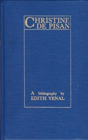 Cover of: Christine de Pisan | Edith Yenal
