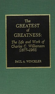 Cover of: The greatest of greatness | Paul A. Winckler