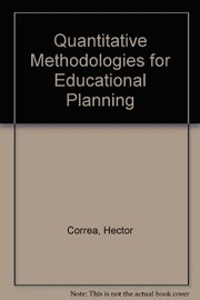 Cover of: Quantitative methods of educational planning. | HeМЃctor Correa