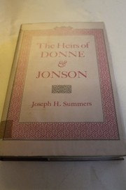 Cover of: The heirs of Donne and Jonson