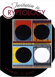 Cover of: Invitation to cryptology