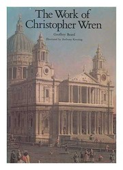 Cover of: The work of Christopher Wren
