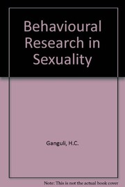 Cover of: Behavioural research in sexuality