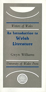 Cover of: An introduction to Welsh literature