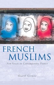 Cover of: French Muslims: New Voices in Contemporary France (French and Francophone Studies)