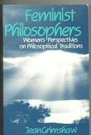Cover of: Feminist philosophers | Jean Grimshaw