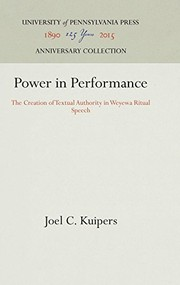 Cover of: Power in performance