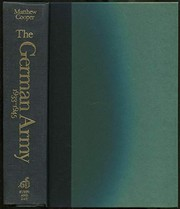 Cover of: The German Army, 1933-1945 | Cooper, Matthew