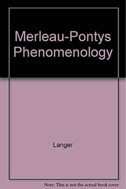 Cover of: Merleau-Ponty