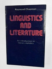 Cover of: Linguistics and literature | Raymond Chapman