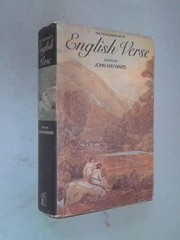 Cover of: The Penguin book of English verse