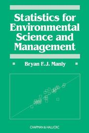 Cover of: Statistics for Environmental Science and Management