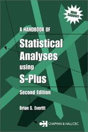 A handbook of statistical analyses using S-PLUS by Brian Everitt