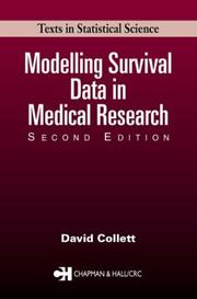 Modelling survival data in medical research by D. Collett