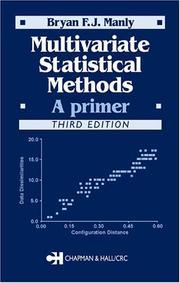 Cover of: Multivariate Statistical Methods