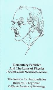 Cover of: The Reason for Antiparticles