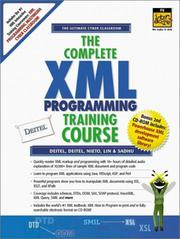 Cover of: The Complete XML Programming Training Course (1st Edition) | Harvey M. Deitel