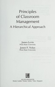 Cover of: Principles of classroom management | Levin, James