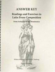 Cover of: Readings & Exercises in Latin Prose Composition | Milena Minkova