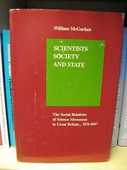 Cover of: Scientists, society, and state | William McGucken