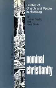 Cover of: Nominal Christianity | Justus Freytag