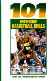 Cover of: 101 Defensive Basketball Drills | George Matthew Karl