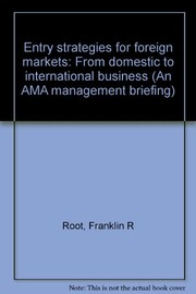 Cover of: Entry strategies for foreign markets