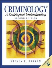 Cover of: Criminology | Steven E. Barkan