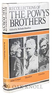 Cover of: Recollections of the Powys brothers |